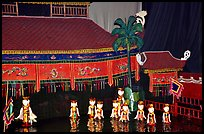 Water puppets performance in 1999.. Hanoi, Vietnam ( color)