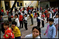 Children, School yard. Hanoi, Vietnam (color)