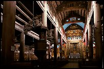 Interior of  Phat Diem cathedral, built in chinese architectural style. Ninh Binh,  Vietnam ( color)