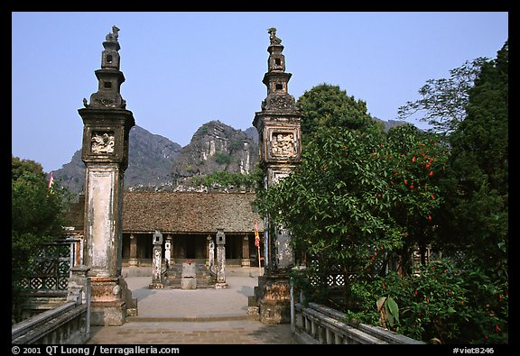 Hoa Lu, medieval site of the early kingdom of Vietnam. Ninh Binh,  Vietnam (color)