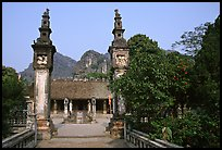 Hoa Lu, medieval site of the early kingdom of Vietnam. Ninh Binh,  Vietnam ( color)