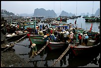 Harbor in Hong Gai. Halong Bay, Vietnam