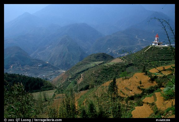 Hills of the Blue Country. Sapa, Vietnam (color)