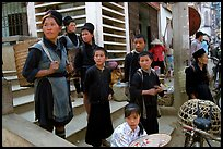 Hmong people at the market. The Hmong constitue the largest hill tribe (ethnic minority). Sapa, Vietnam