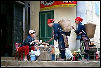 Dzao women shopping. Sapa, Vietnam