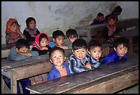 In the classroom. Bac Ha, Vietnam (color)