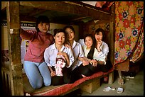 Hanoi-born teachers in the remote mountain outpost of Can Cau. Vietnam ( color)