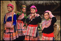 Young Flower Hmong  women. Bac Ha, Vietnam