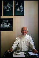 Traditional medicine doctor. Ho Chi Minh City, Vietnam (color)