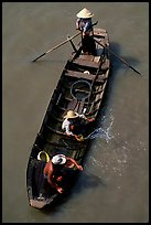 Small boat seen from above. Can Tho, Vietnam ( color)