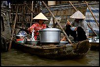Boat-based food vendors. Can Tho, Vietnam