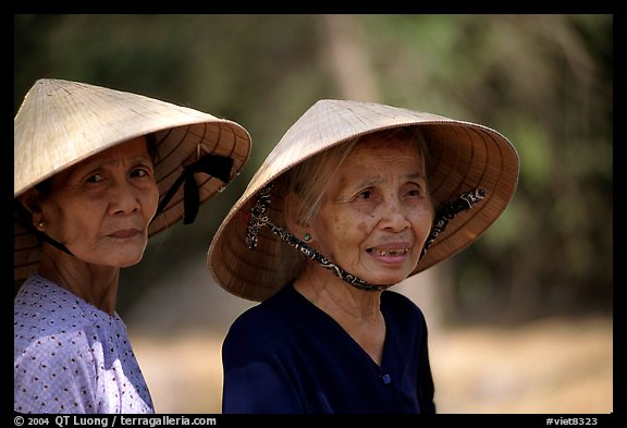 Two elderly women. Ben Tre, Vietnam (color)