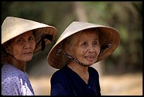 Two elderly women, Ben Tre. Mekong Delta, Vietnam (color)