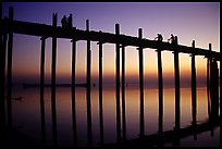 U Bein's bridge at sunset, Amarapura, Myanmar.