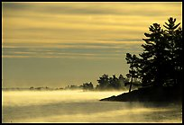 Fog at sunrise, Voyageurs National Park.