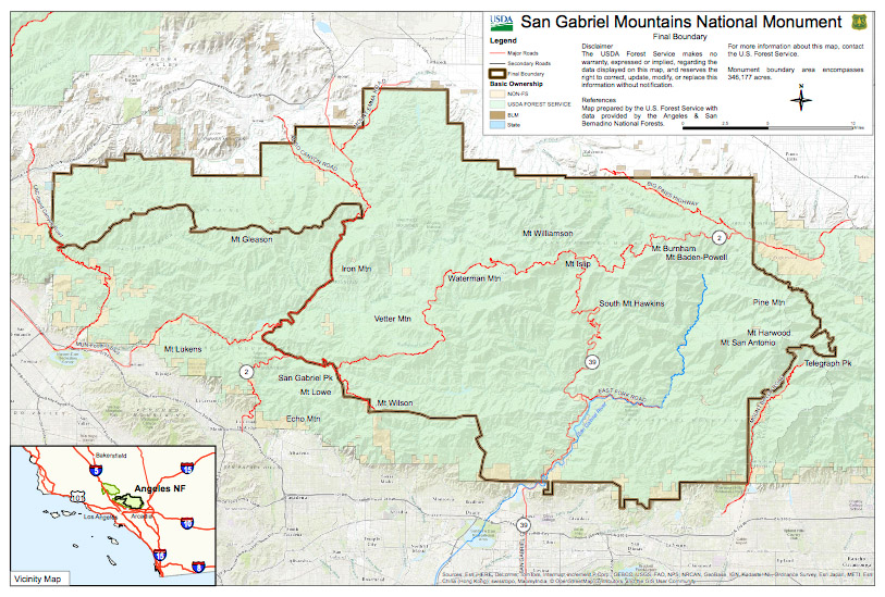 Two Peaks in San Gabriel Mountains National Monument | The Terra ...