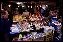 Seafood store in a popular street. Tokyo, Japan ( color)