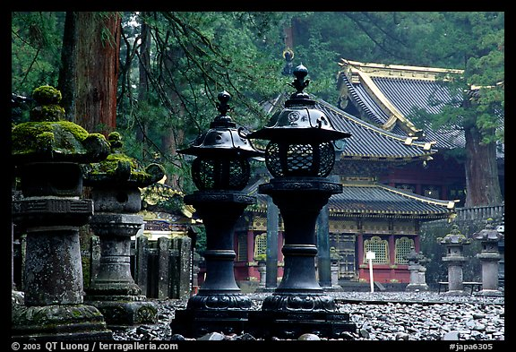 Sacred urns in Tosho-gu Shrine. Nikko, Japan (color)