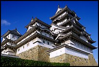 Towering five-story castle. Himeji, Japan (color)