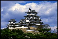 Classic lines of the castle. Himeji, Japan ( color)