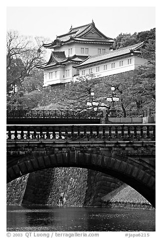 Imperial Palace. Tokyo, Japan (black and white)