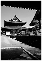 Entrance of the Tofuju-ji Temple, one of the city's five main Zen temples. Kyoto, Japan ( black and white)