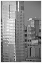 High-rise buildings. Calgary, Alberta, Canada (black and white)