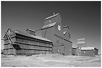 Agricultural buildings. Alberta, Canada ( black and white)