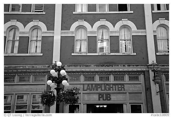 Downtown facades. Vancouver, British Columbia, Canada (black and white)