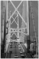 Lions Gate Bridge. Vancouver, British Columbia, Canada ( black and white)