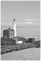 Fisgard Lighthouse National Historic Site. Victoria, British Columbia, Canada ( black and white)