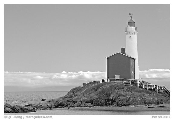 Oldest lightouse on the Canadian West Coast. Victoria, British Columbia, Canada (black and white)