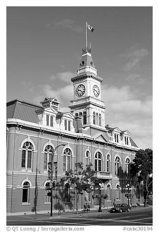 City Hall, morning. Victoria, British Columbia, Canada (black and white)