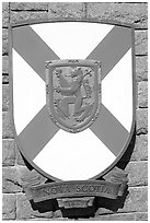 Shield of Nova Scotia Province. Victoria, British Columbia, Canada ( black and white)