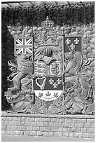 Shield of Canada. Victoria, British Columbia, Canada ( black and white)
