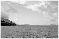 Lake. Vancouver Island, British Columbia, Canada ( black and white)