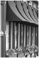 Pub facade detail. Victoria, British Columbia, Canada ( black and white)