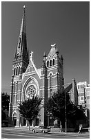 Church. Victoria, British Columbia, Canada ( black and white)
