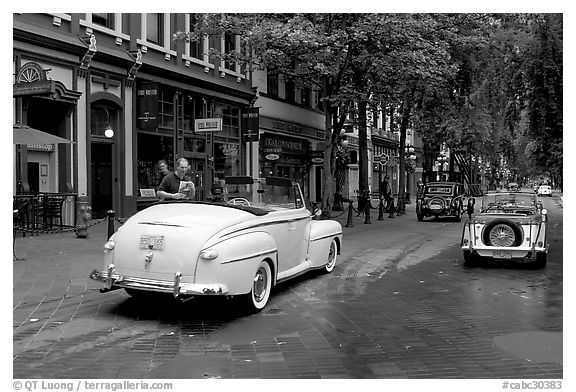 Black And White Photos Of Classic Cars Stock Photography And
