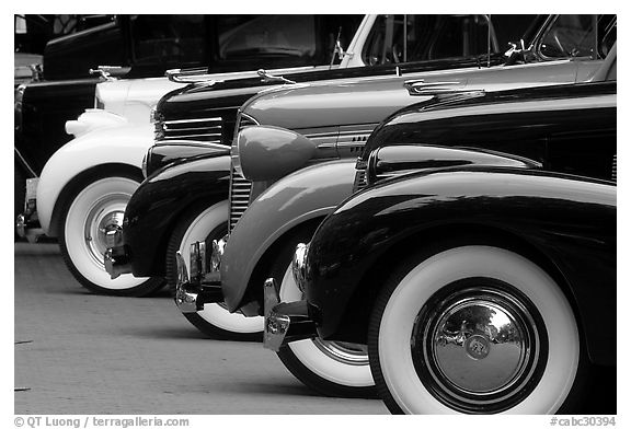 Classic car show vancouver british columbia canada black and white