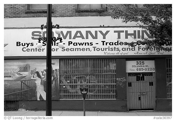 Pawn shop, Gastown. Vancouver, British Columbia, Canada (black and white)
