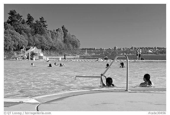 Swimming pool, Stanley Park. Vancouver, British Columbia, Canada (black and white)