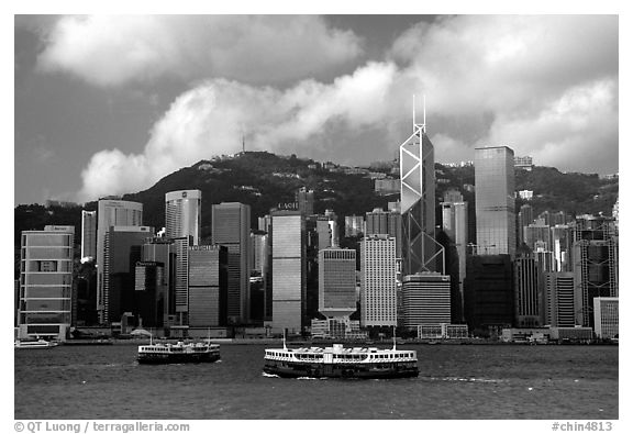 Star ferries and hong kong island across the buy hong kong harbor