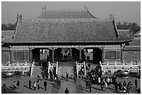 Heavenly Purity Gate, Forbidden City. Beijing, China ( black and white)
