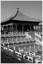 Hall of Central Harmony, Forbidden City. Beijing, China ( black and white)