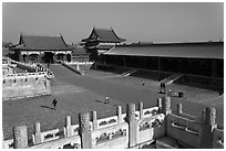 Outer Court, imperial palace, Forbidden City. Beijing, China ( black and white)