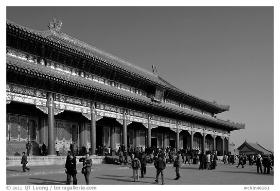 Hall of Supreme Harmony, Forbidden City. Beijing, China (black and white)
