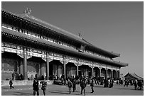 Hall of Supreme Harmony, Forbidden City. Beijing, China ( black and white)