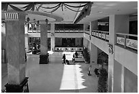 Hotel lobby. Beijing, China ( black and white)