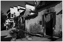 Village houses. Xidi Village, Anhui, China ( black and white)
